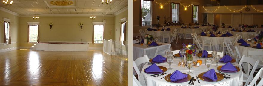 empty hall purple napkins